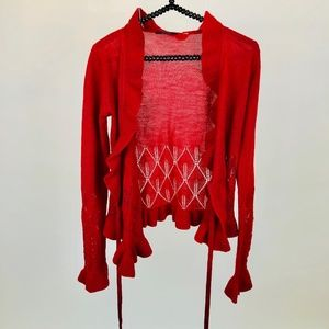 Elie Tahari red sweater small